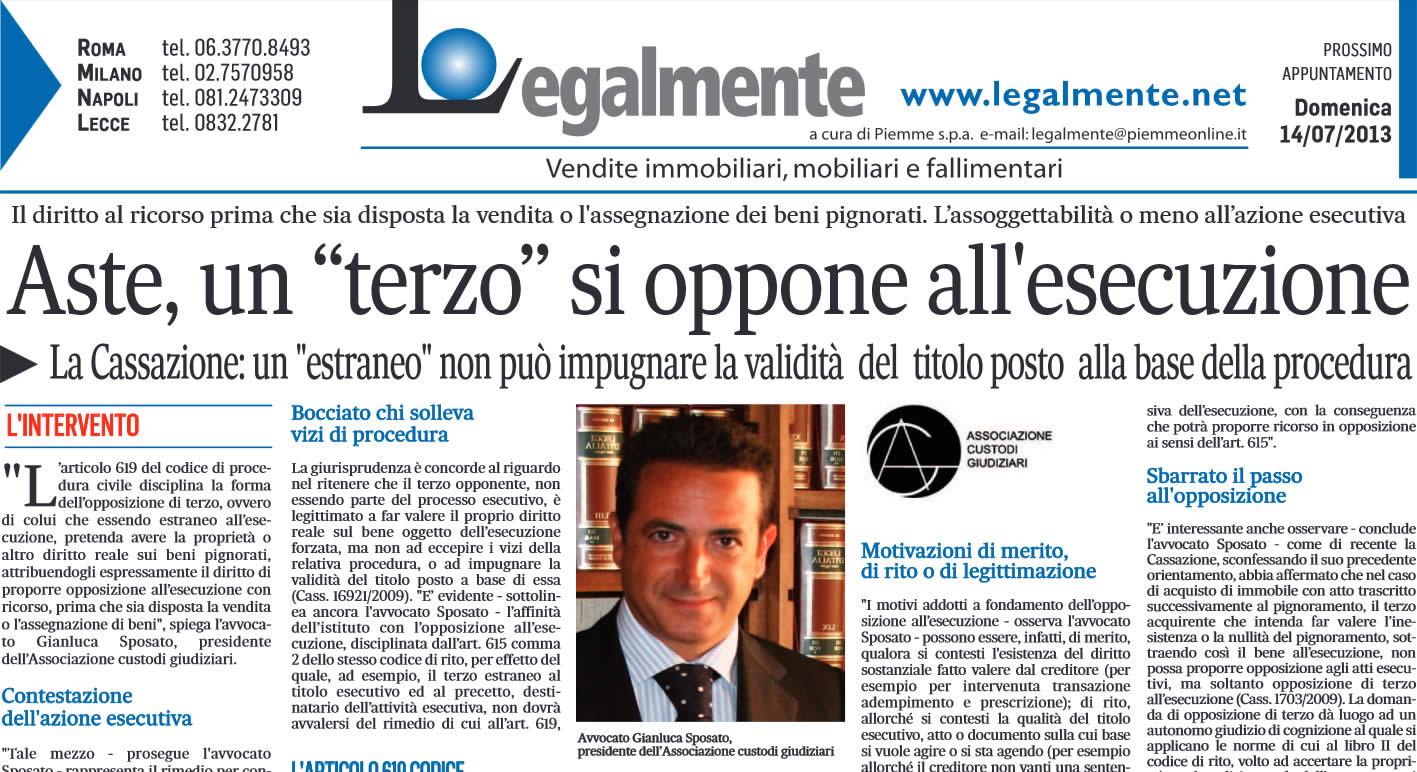 """Il Messaggero: """"Aste, un terzo si oppone all'esecuzione"""""""
